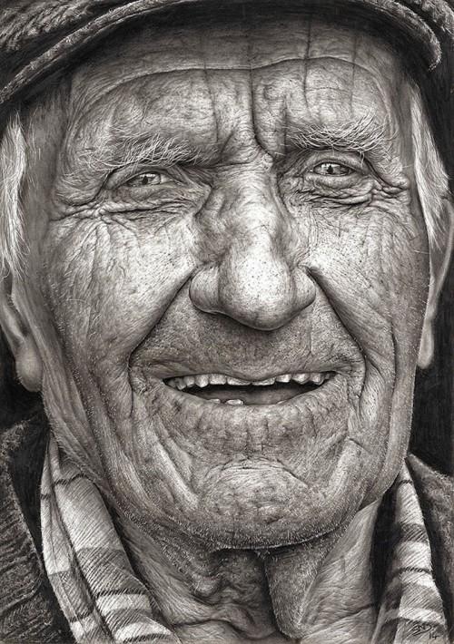 Disegni Di Persone Anziane.Questa Non E Una Foto E Un Disegno A Matita Fatto Da Una