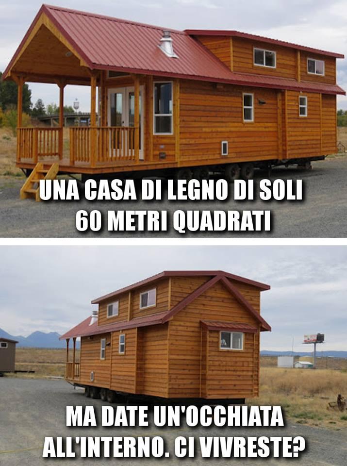 Una casa di legno di 60 metri quadrati ma basta un for Casa di 5000 metri quadrati