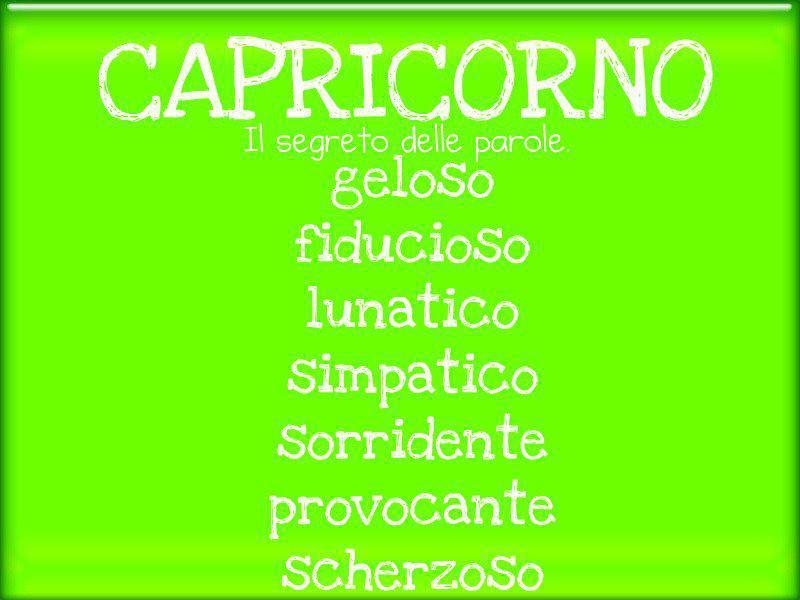 Aggettivi pè ogni segno zodiacale: CAPRICORNO - 13/09/2012